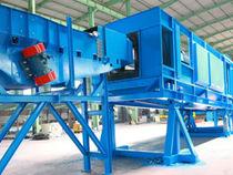 Granalladora de banda / para productos a granel / automática / continua