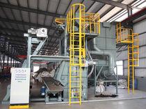 Granalladora de banda / para productos a granel / automática / compacta