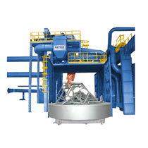 Granalladora con mesa giratoria / para productos a granel