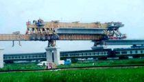 Pórtico de lanzamiento para la construcción de puentes