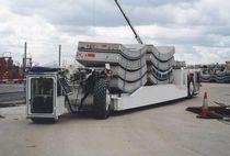 Remolque de 2 ejes / para equipamiento industrial / plataforma / para construcción de túnel