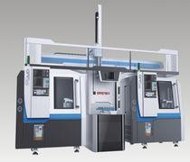 Torno CNC / 3 ejes / de platos / con pórtico de carga