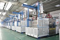 Moldeadora de espuma plástica / para EPS / para polipropileno expandido / controlada por PLC