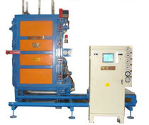 Moldeadora de espuma plástica / de bloques de EPS / controlada por PLC / con ciclo de vacío