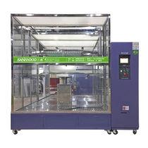 Cámara de pruebas de estanqueidad mediante la proyección de agua / con ventanas / para máquinas de pruebas de materiales