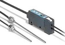 Sensor fotoeléctrico de tipo barrera / rectangular / luz roja / de fibra óptica