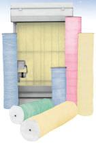Materia filtrante de fibra de vidrio / de polvo / para filtros en rollo