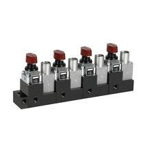 Distribuidor neumático rotativo / con accionamiento manual / modular