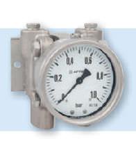 Manómetro analógico / de membrana / diferencial / de proceso