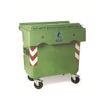 Contenedor de residuos de PEAD / para residuos urbanos / de dos ruedas / 4 ruedas
