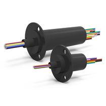 Anillo colector eléctrico / de cápsula / compacto / con contactos de oro