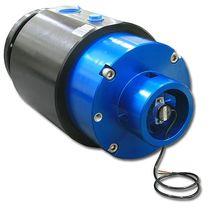Racor giratorio para aceite / de pasos múltiplos / hidráulico / con codificador rotativo integrado