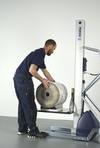 Aparato de levantamiento para rollos / para contenedores / para enrollador / para cajas