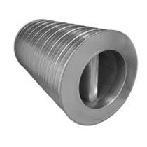 Silenciador para la ventilación / para conducto circular / de aluminio / de acero inoxidable