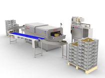 Línea de revestimiento de queso / con secado / para la industria alimentaria / semiautomática