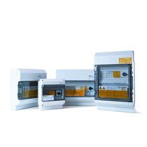 Caja eléctrica equipada / para aplicaciones fotovoltaicas / para rack para distribución eléctrica / preensamblada