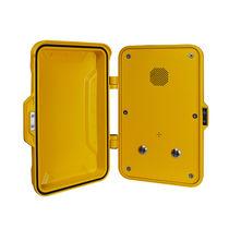 Teléfono antivandalismo / resistente a las inclemencias / analógico / con puerta de protección