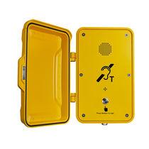 Teléfono antivandalismo / resistente a las inclemencias / con puerta de protección / para aplicaciones ferroviarias