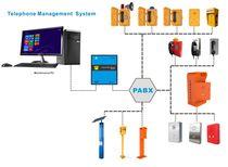 Unidad de control de alarma vocal en red con teléfono de emergencia