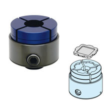 Mandril de sujeción de piezas de precisión / mecanizable / 4 mordazas