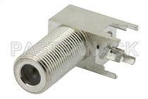 Conector para tarjeta electrónica / coaxial / rectangular / hembra