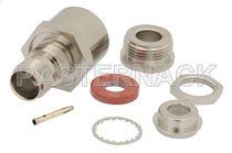 Conector RF / TNC / coaxial / rectangular