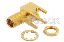 Conector PCB / coaxial / MCX / en ángulo recto