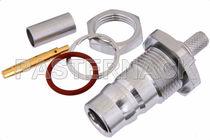 Conector RF / coaxial / cilíndrico / hembra