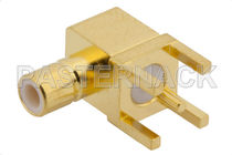 Conector para tarjeta electrónica / coaxial / jack / de ángulo recto