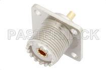 Conector UHF / PCB / coaxial / circular