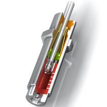 Amortiguador de choque / neumático / de acero inoxidable / autocompensador