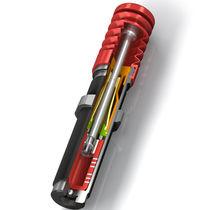 Amortiguador de choque / neumático / para máquina / compacto