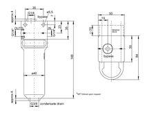 Filtro de gas / con cesta / para muestras / para bomba