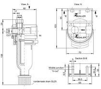 Filtro de gas / de cartucho / para muestras / de muestreo