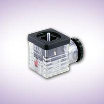 Conector para electroválvula / de alimentación eléctrica / DIN / cuadrado