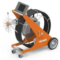 Máquina de limpieza de cepillo / comercial / para conducto / móvil