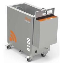 Máquina de limpieza por ultrasonidos / de acero inoxidable / móvil / para cartucho filtrante