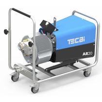 Compresor de aire / con ruedas / de paletas / silencioso