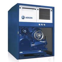 Grupo compresor de aire / de lóbulos / de accionamiento por correa / silenciado
