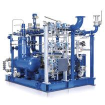 Grupo compresor de biogás / de tornillo / de accionamiento por correa / con inyección de aceite