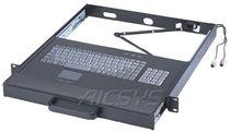 Teclado montado en rack-cajón / empotrable / 106 teclas / con alfombrilla táctil