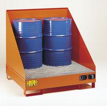 Cubeta de retención multiusos / de 4 bidones / de acero al carbono / rígida
