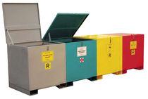 Cajón de metal / de reciclaje / apilables y sobre tapa