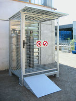 Armario de almacenamiento / para suelo / de metal / para botellas de gas