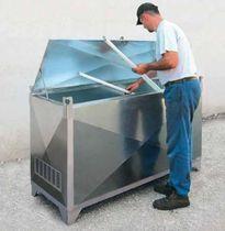 Contenedor plegable / de acero / para la recogida de tubos fluorescentes