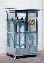 Armario de almacenamiento / para suelo / de acero galvanizado / para botellas de gas