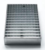 Cubeta de retención multiusos / de acero / rígida