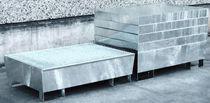 Cubeta de retención multiusos / de 2 bidones / de acero galvanizado / rígida