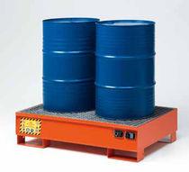 Cubeta de retención multiusos / de 2 bidones / de acero al carbono / rígida