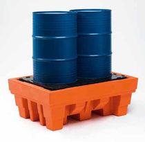Cubeta de retención multiusos / de 2 bidones / de polietileno / rígida